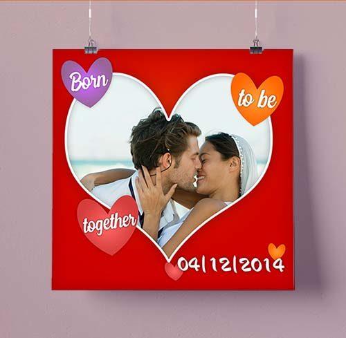 Προσωποποιημένος πίνακας για ερωτευμένους